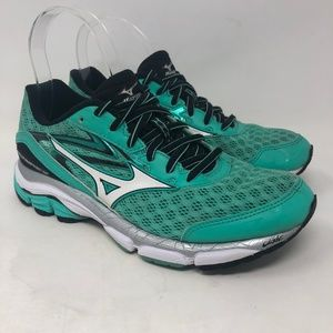Mizuno Wave Inspire 12 Teal Running Shoes 7.5